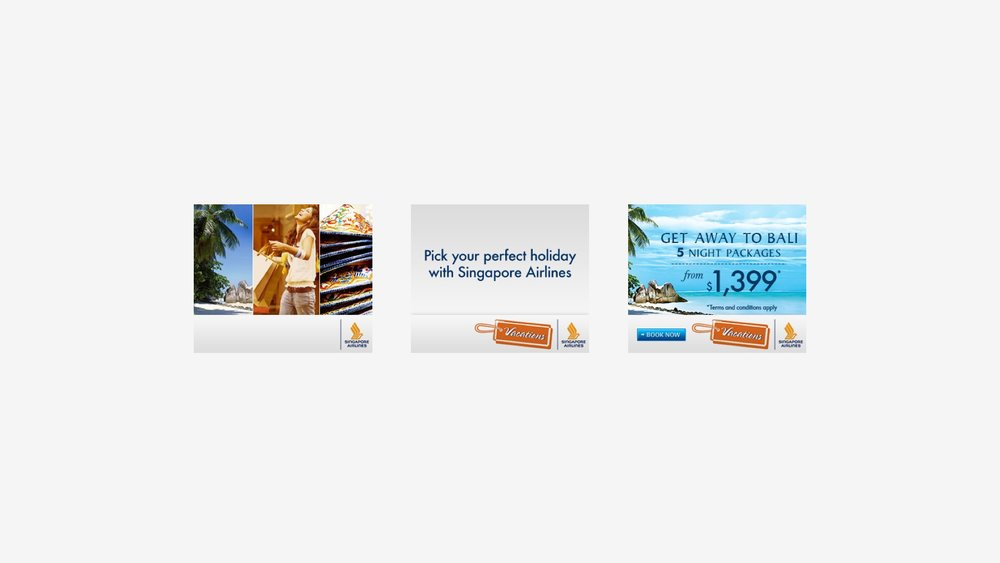 Singapore Airlines: Bali Vacation Campaign Banners