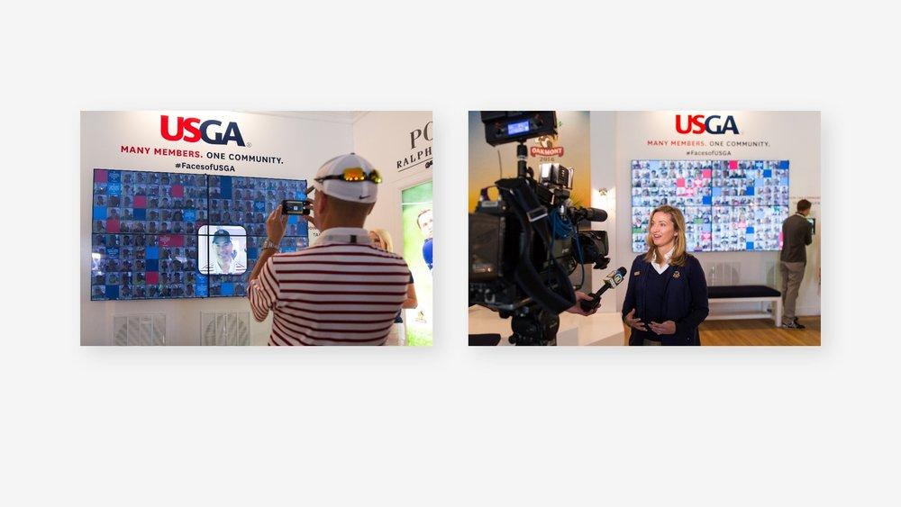USGA: US Open Community Photo Wall Selfie Ap