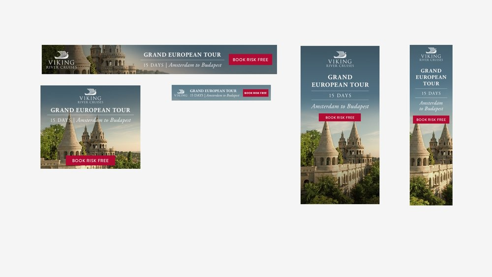 Viking Cruises: Campaign Banners