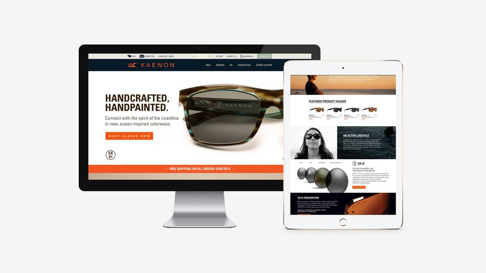 Kaenon: Wireframe & Website Concept