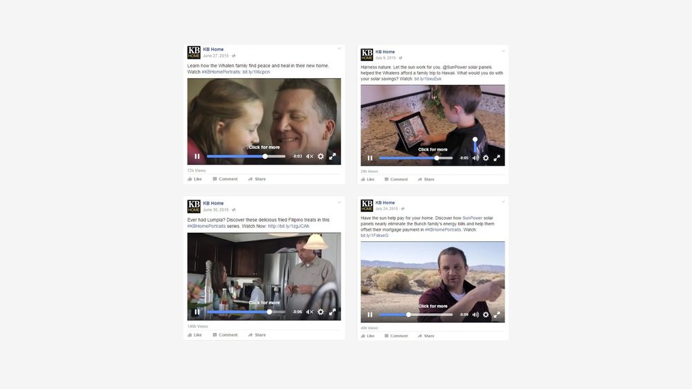 KB Home: Social Media Video Posts