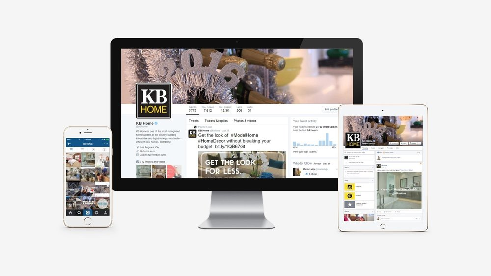 KB Home: Social Profile Branding