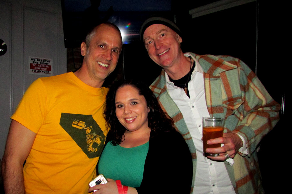 Troy Ruptash, Craig Richey, and Sarah Levin enjoying the after party at Bru's Wiffle in Beverly Hills