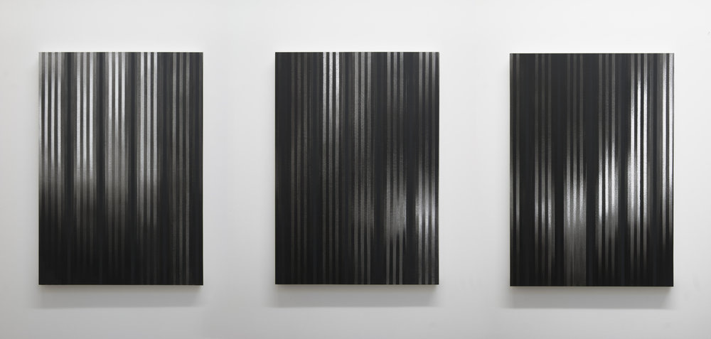 In Pursuit of Shadows, 2013 (Installation view)  Acrylic on panel, 36 x 26 inches each
