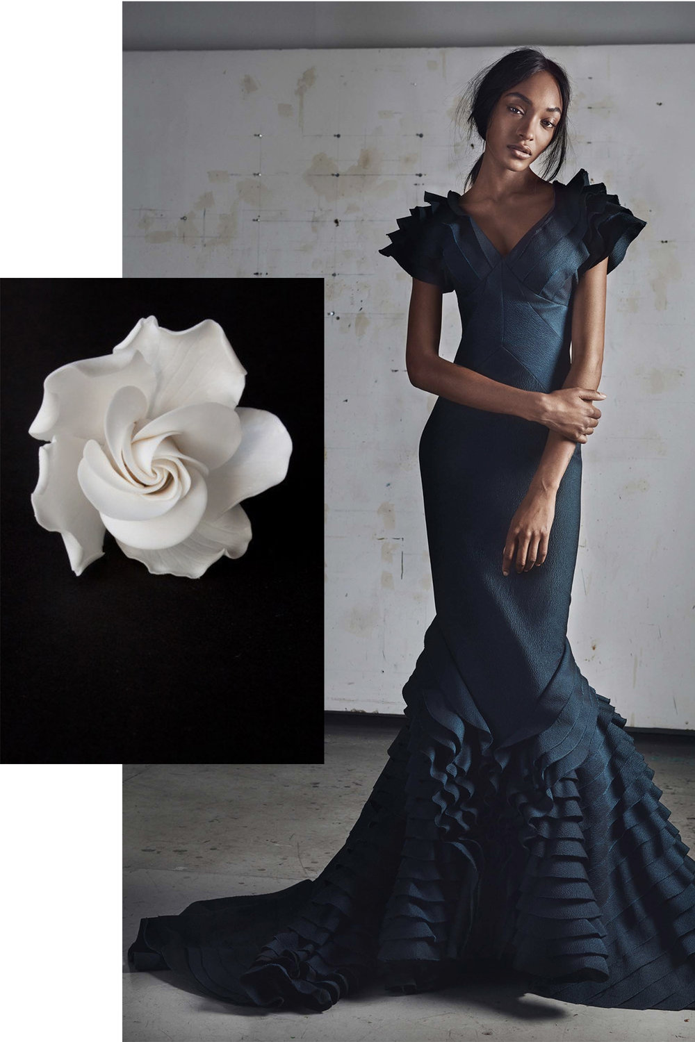 Zac Posen paired with Gardenia