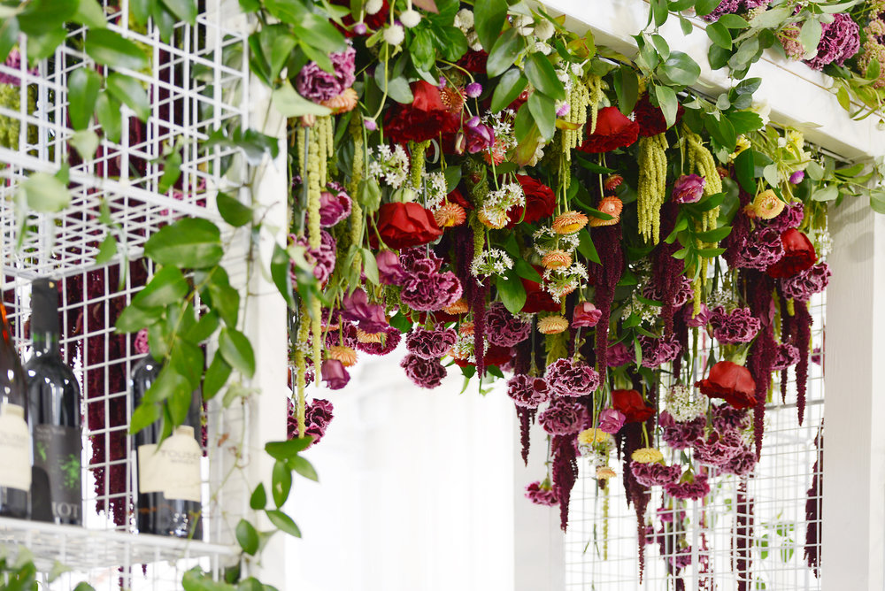 The hanging flowers garden provided an oasis