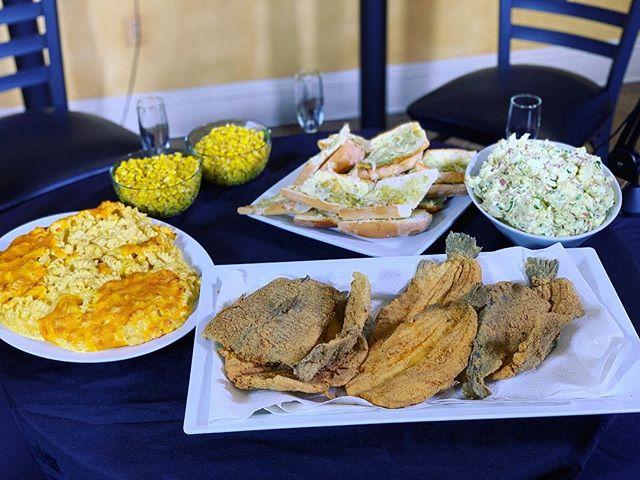 #TheFamilyMeal -Fried Trout, Baked Macaroni & Cheese, Cajun Potato Salad, Buttered Corn, Garlic Toast- #Simplicity . . . #TheFamilyMealPodcast #TheFamilyMealPod #Local #Trout #catering #nolacatering #nolacaterer #FoodPorn #potatosalad #Fish #macandcheese #nola #yum #yummy #podcast #nolapodcast #NewOrleans #nolaChef #yum #followyournola