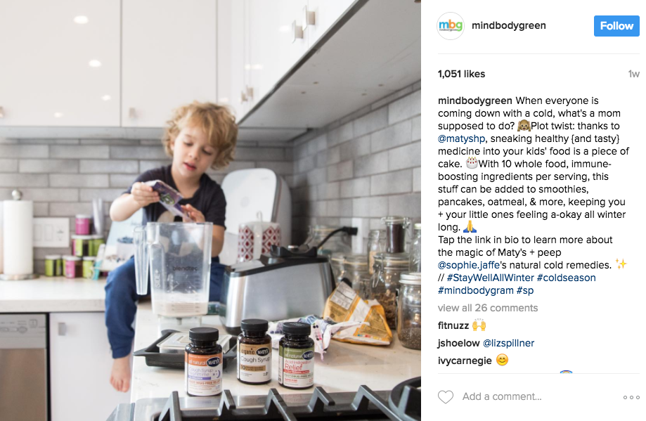 MindBodyGreen posts an authentic, but timely shot that speaks to moms who have been there before!