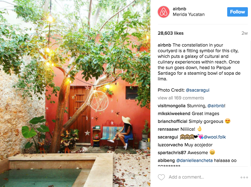 """AirBnb captures the idea of the """"vacation I need,"""" and the """"life I want"""" through a stunning, vibrant image while staying in an AirBnb in Merida Yucatan."""
