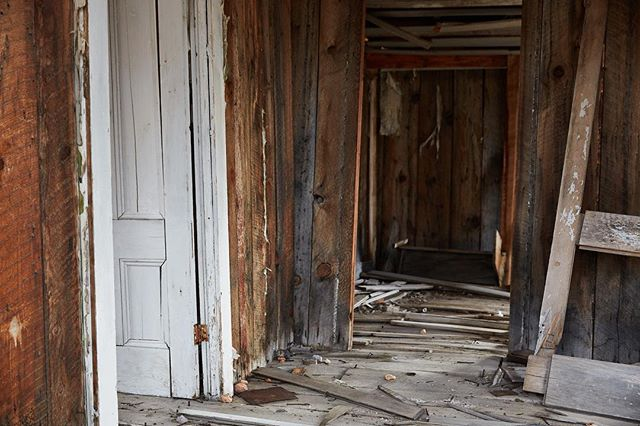 Worn out interior out in Bodie this past Winter.