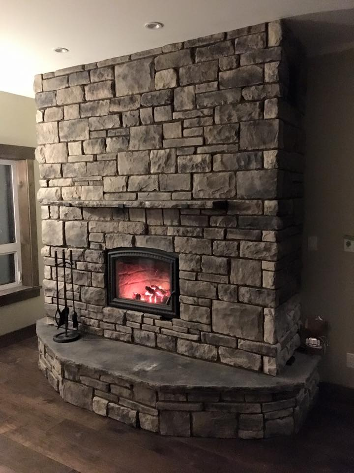 cultured stone fireplace cranbrook