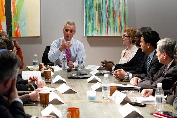 Mayor Emanuel meeting with the Technology Diversity Council in Zapwater's Office