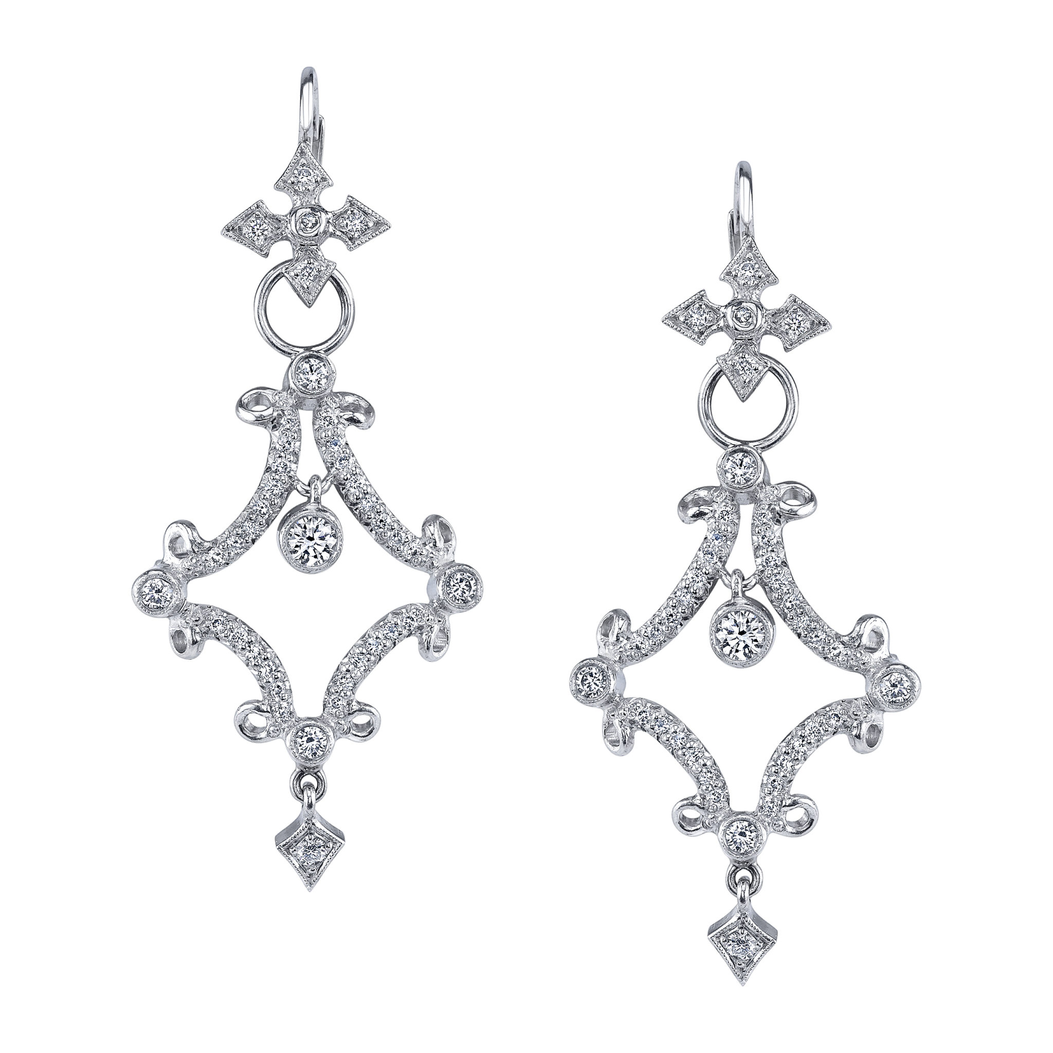 Platinum-and-diamond-Forever-earrings