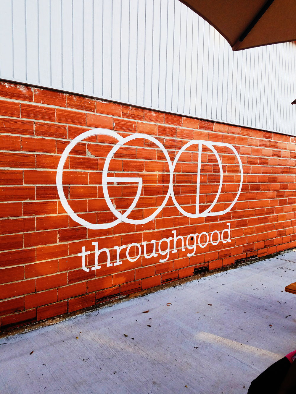 Throughgood Coffee  - throughgoodcoffee.comThey believe in all things good...coffee, tea, people, food, and cause. The patio areas are great for hanging outside when you want fresh air. Baristas here really care.