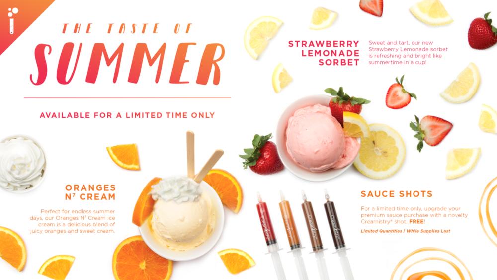 Creamistry Summer Specials