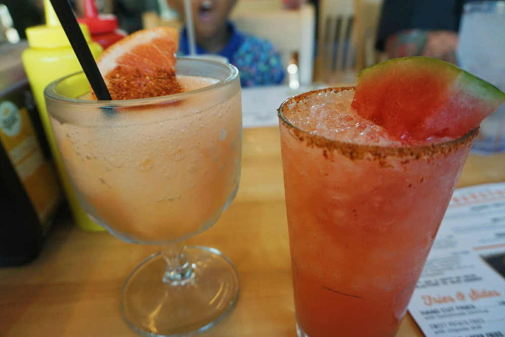 Grapefruit Cocktail & Watermelon Margarita