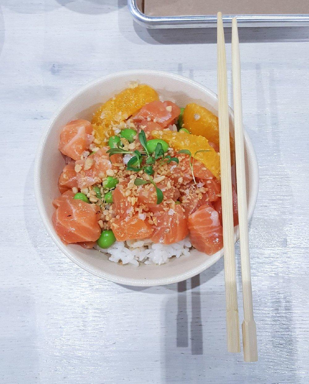 3. Salmon Ponzu - SeaSide Poke - Ponzu, Orange, Edamame, Garlic