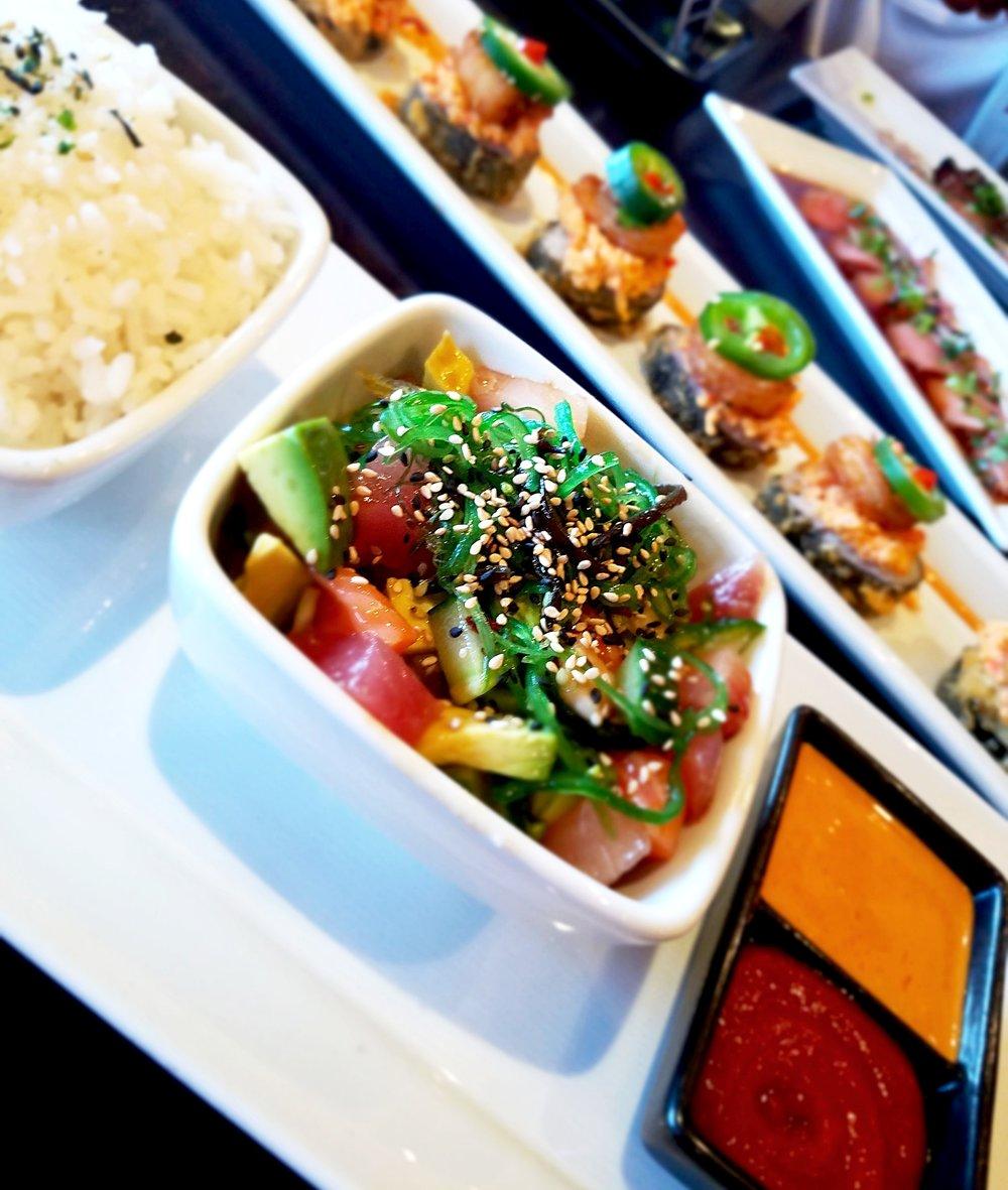 4. Bara Chirashi Bowl - Ra Sushi - Tuna, Salmon, Yellowtail, Shrimp, Avocado,Cucumber Pokie Sauce