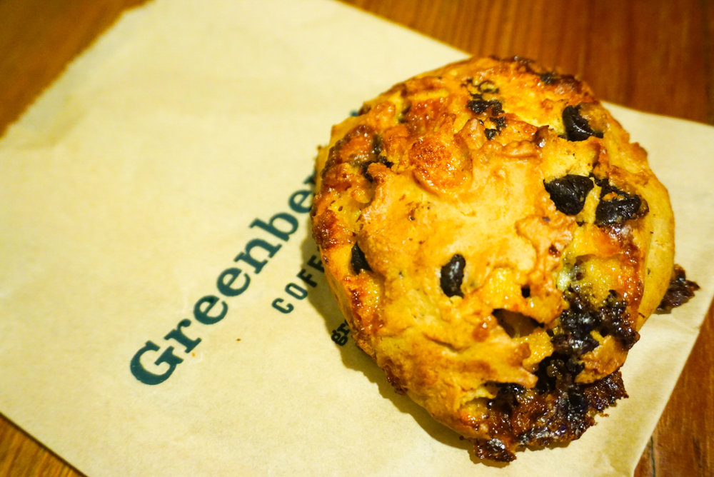 Chocolate Scone from Greenberry's Coffee Co
