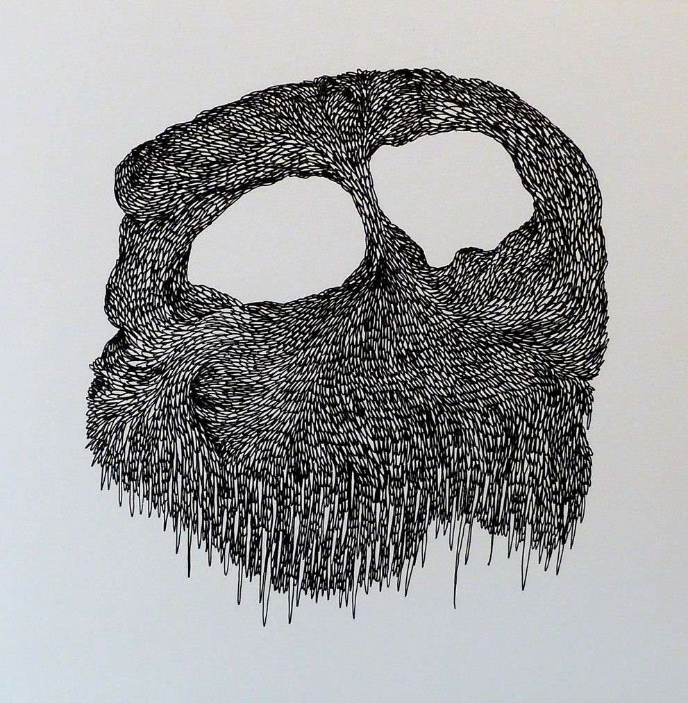 Talitha Kennedy,  Cave mask , 2014. Ink on paper. 29 x 29cm.