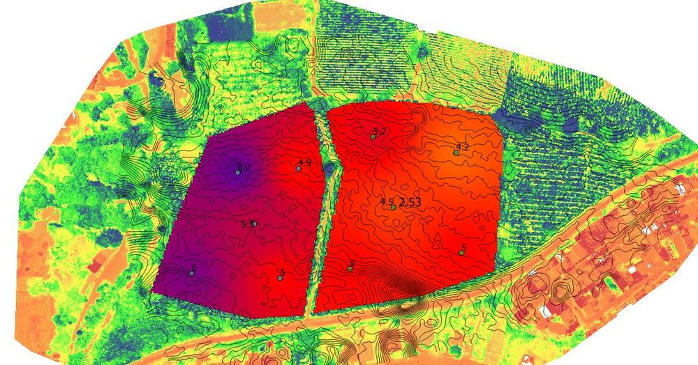 mapa de suelos de niveles de ph