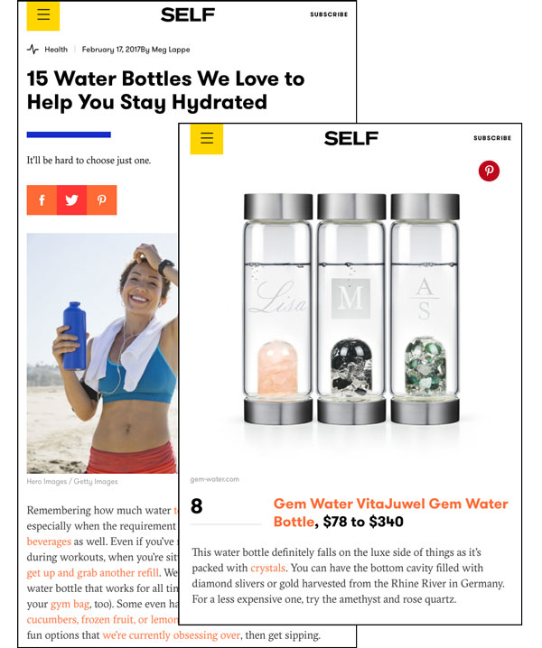 15 Water Bottles We Love to Help You Stay Hydrated. Self.com