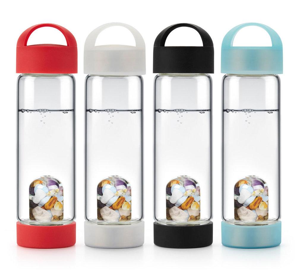 LOOPS : Silicone Caps on ViA Gem-Water Bottles by VitaJuwel