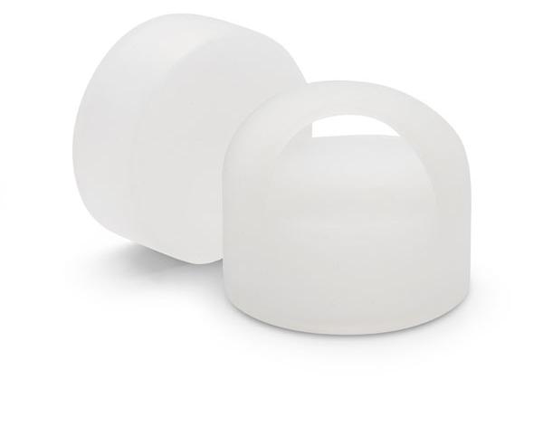 LOOP : Cloud White Silicone Caps for ViA Gem-Water Bottles by VitaJuwel
