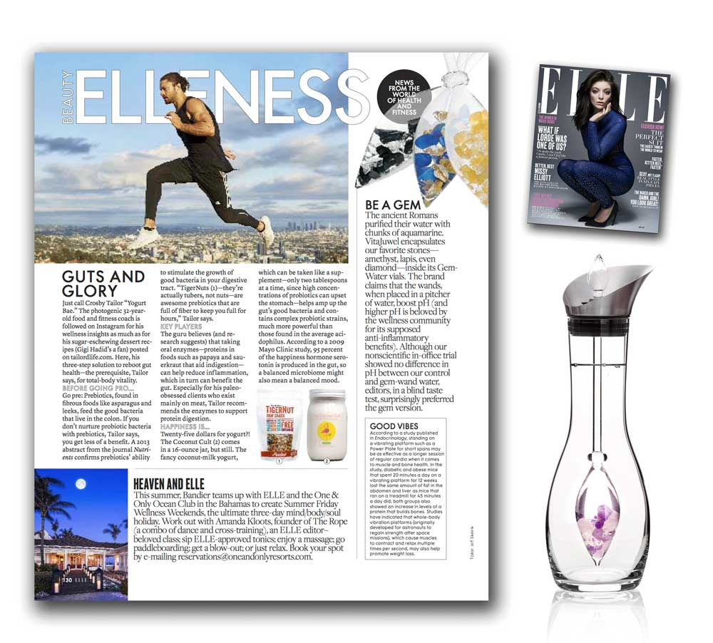 GEM-WATER in Elle Magazine : Be a Gem