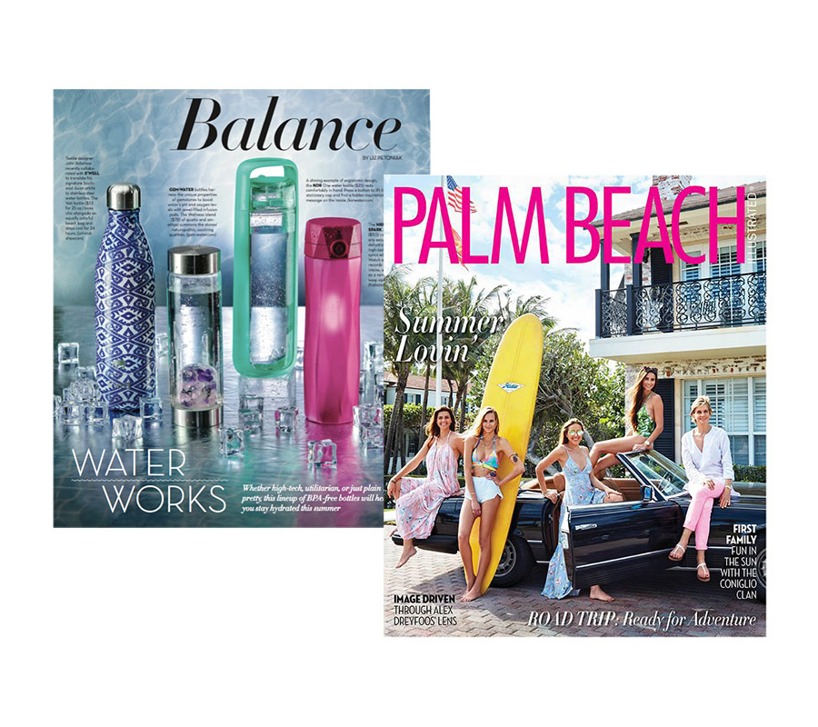 "Palm Beach Illustrated ""Hydrate In Style"""