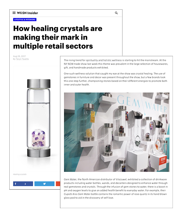 """""""How healing crystals are making their mark in multiple retail sectors"""" WGSN Insider"""