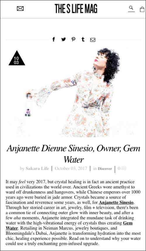 Sakara : The S Life Interview with Anjanette from Gem-Water