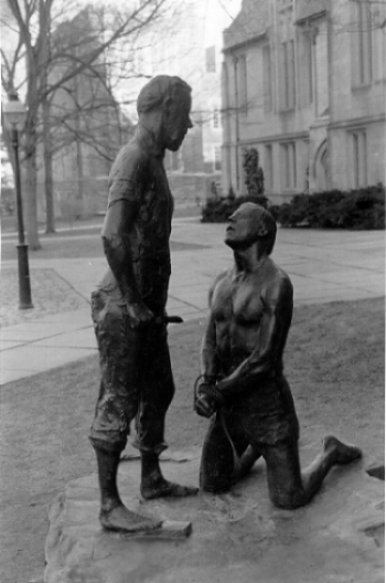 Abraham and Isaac Sculpture in Commemoration of the KENT STATE Shootings, at Princeton University