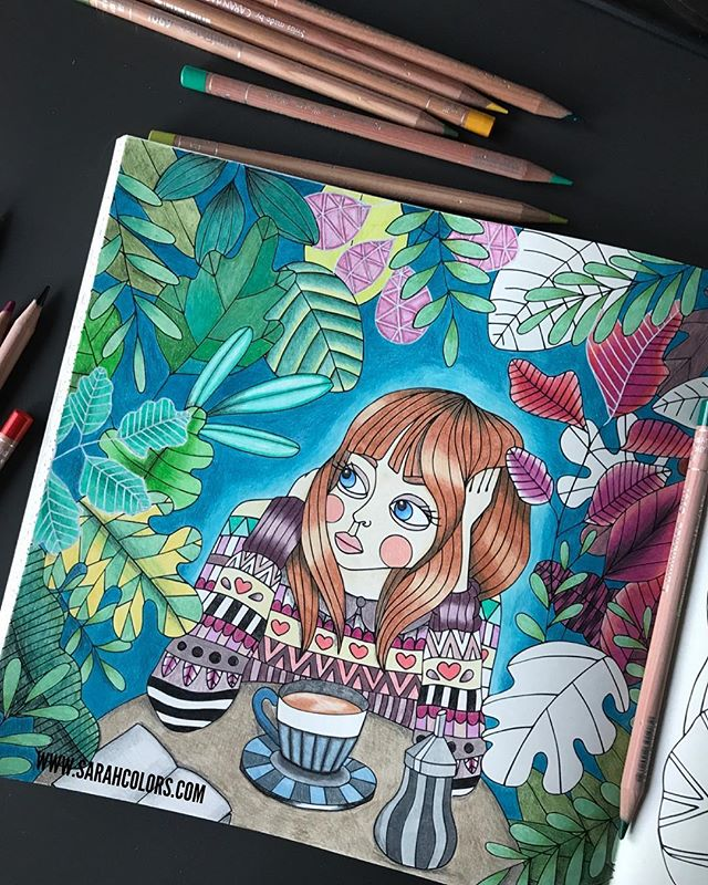 💛 PROGRESS 💛 . . I have made faster progress on this page than any other I've ever done. I think this is because I've finally found my coloring 'home' in this book. My coloring friends say this is 'very me' 🙈 . . My Luminance have not been playing nicely with me on this page, hence why it looks a little scratchy at the moment. Lucky there is a wonderful full wax blender than hides all this 😉 . . I want to do more pages in this book, in fact I never want to leave my desk again! 😜 . . . . . #lidehalloberg #sagolikt #sweden #swedish #adultcoloringbook #carandache #girl #pencils #trees #prismacolor #polychromos #derwent #desk #ikea #ikeaalex #love #relax #coloralong #sydney #monday #motivation #blogger #blog #youtube @youtuber @caran_dache @lidehalloberg