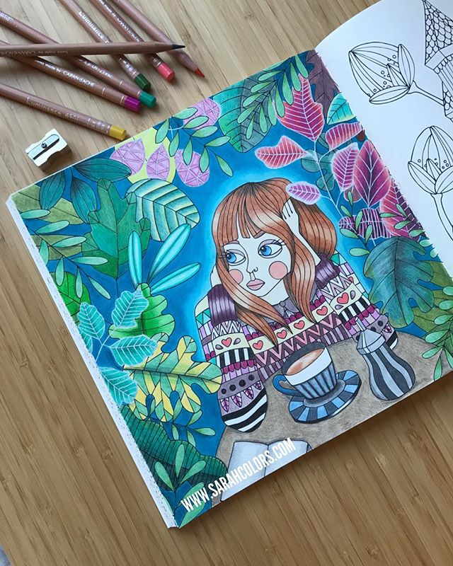 💎FINISHED 💎my 'coffee girl' (yet another made up name) This one just came quickly, luckily. It was mostly a pleasure to do, except for that few instances of scratchy Luminance pencils. I blended the whole lot out with the wax blender pencil which was life saving! #smooth . . I also stole @alwayscoloring 's white gel pen idea (thank you lovely friend!) and it really made the pink flowers pop. . . Now I'll be preparing for my very first COLOR ALONG! Find details in my story. Pick a page and come and color together!! . . . . #sagorochsägner #sagolikt #lidehalloberg #sweden #swedish #carandache #luminance #coffee #girl #wednesday #ikea #adultcoloring #coloralong #youtube #youtuber #blog #blogger #sarahsswedishcoloralong #sydney #winter #love #polychromos #prismacolor #holbeinartistscoloredpencil #follow #like #kumsharpener #birthday