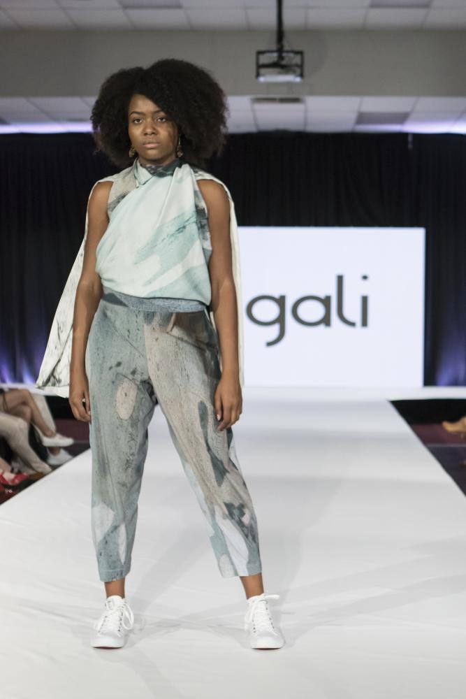 Ngali, Australia on the Eco Fashion Week runway in Fremantle