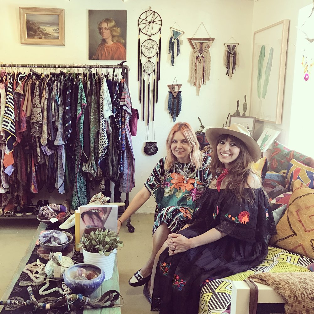 Kime Buzzeli and myself in her shop The End, Yucca Valley
