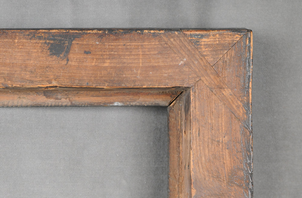 English Eighteenth century Peartree frame - pine back frame - mitred and keyed construction