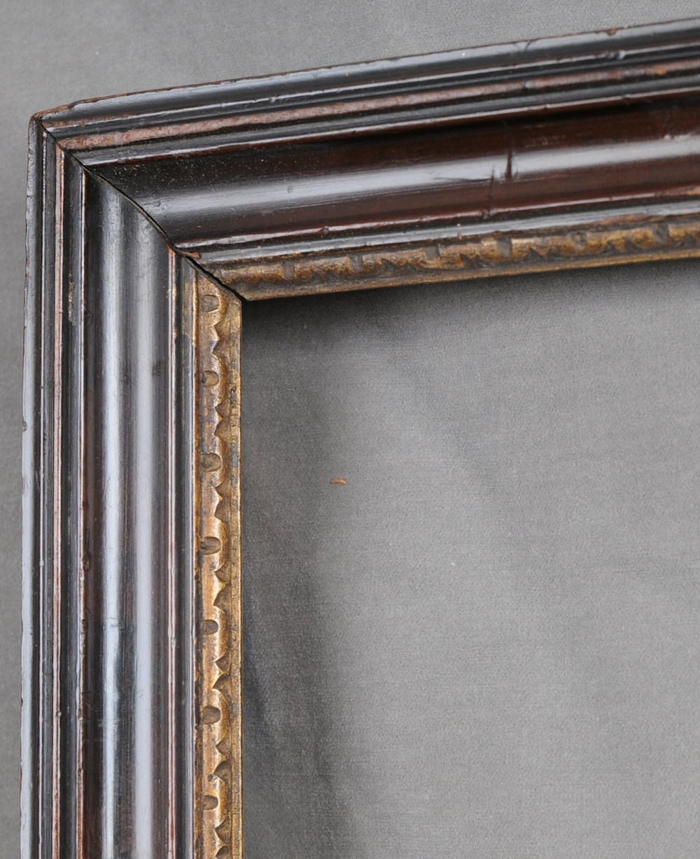 Eighteenth century Darling & Thompson Peartree frame corner detail