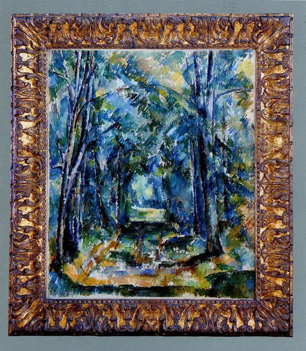 Paul Cézanne  Path in Chantilly  in a 17th century Neapolitan frame