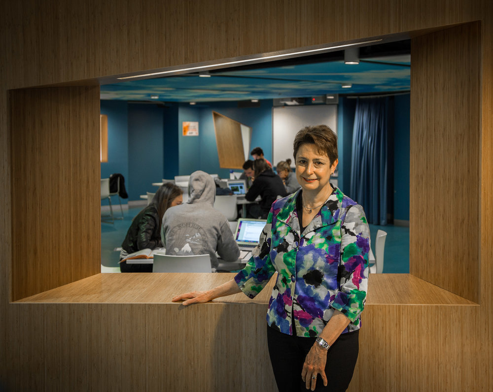 Professor Jill McKeough, photographed in one of the student areas in the UTS law school.