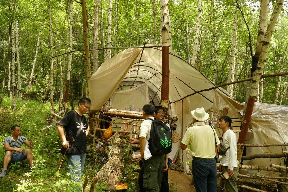 漆山のテント
