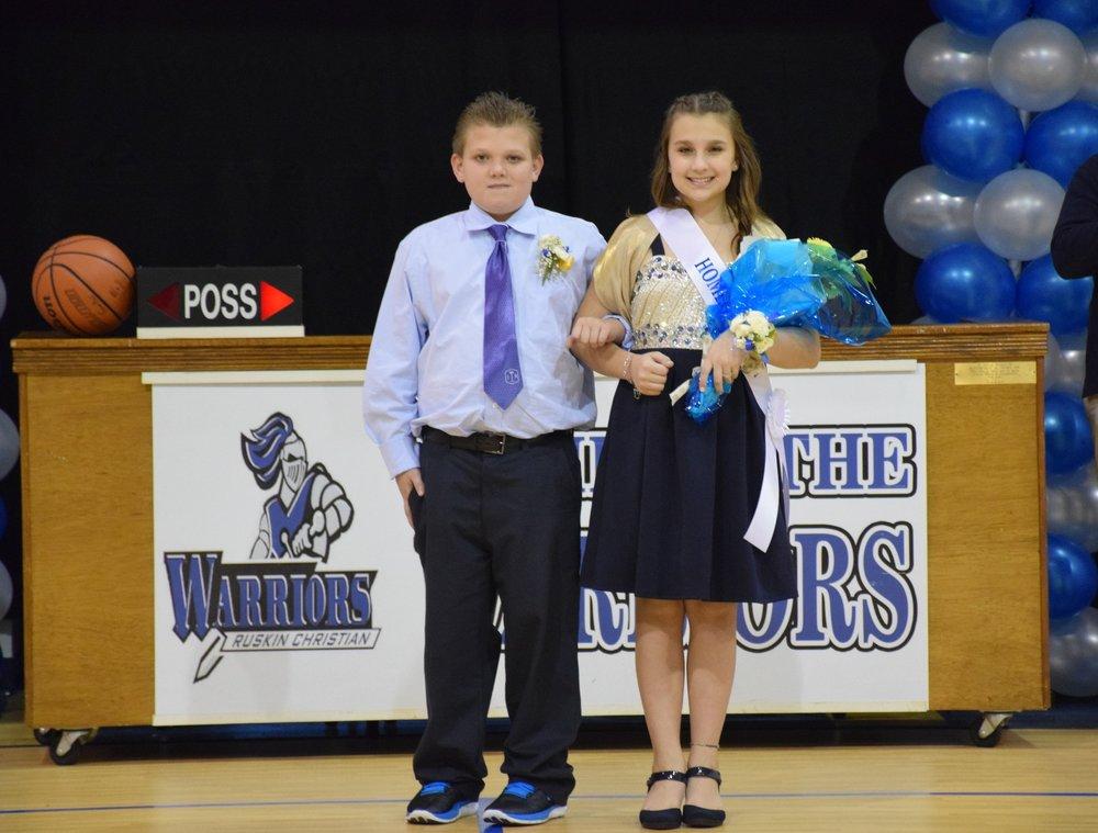 Jason Titus & Hayley Degulis - 7th Grade Representatives
