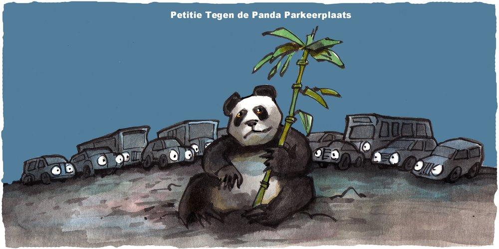Petitie Panda Parkeerplaats