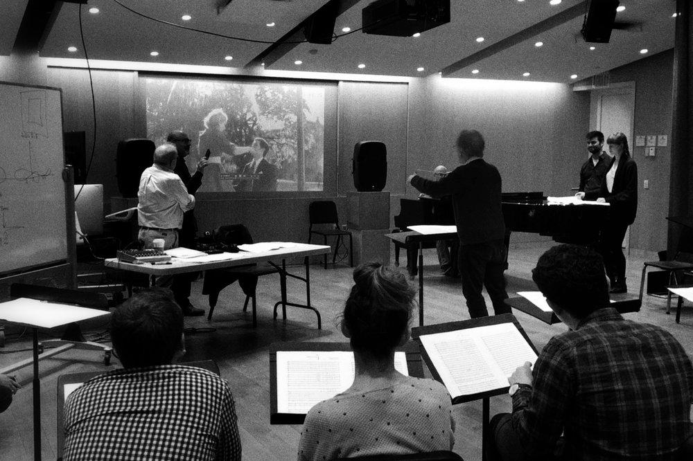Conducting class.