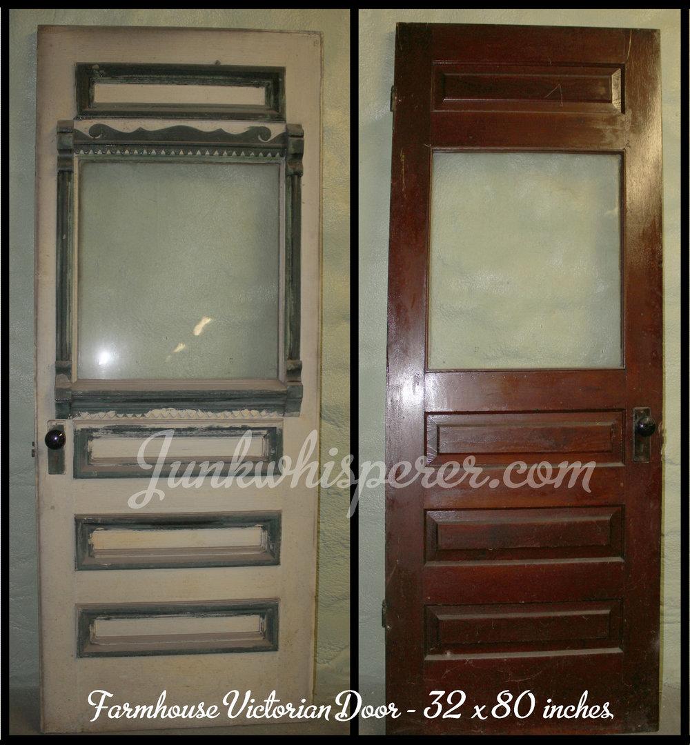 Farmhouse Victorian Door 32x80.jpg & Vintage Farmhouse Doors with Windows \u2014 Junk Whisperer