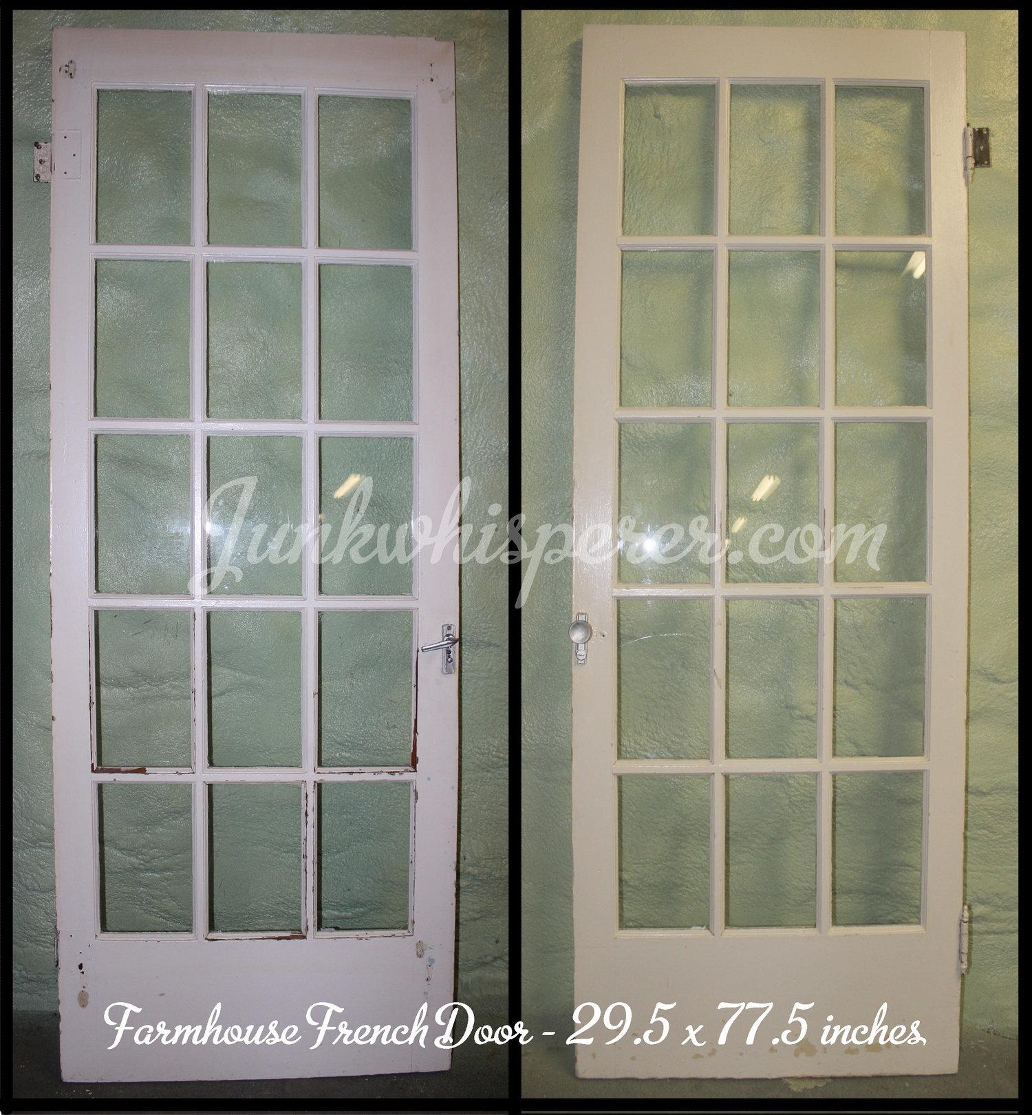 Vintage farmhouse doors with windows junk whisperer prev next rubansaba
