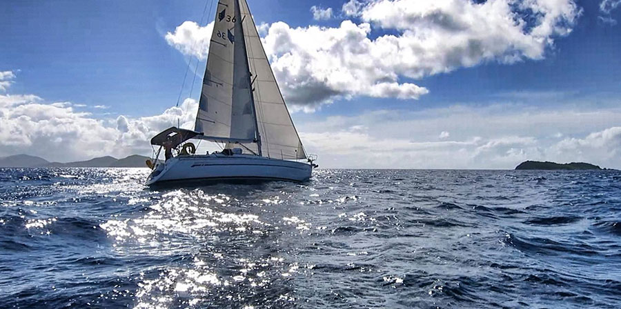 Sailing-in-Caribbean-Sea-British-Virgin-Islands-BVI