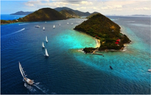 A few of the islands as you sail through BVI