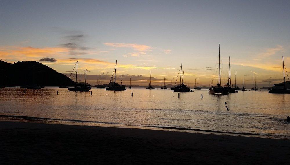 Sunset over Cane Garden Bay, BVI
